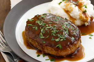 Salisbury Steak with Mushroom Gravy Image 1
