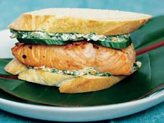 Salmon Sandwiches with Chimichurri Mayonnaise