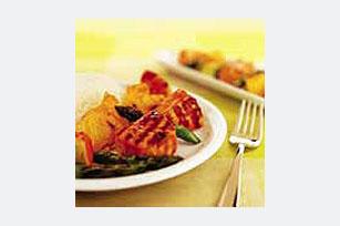 Brochetas de salmón y verduras Image 1