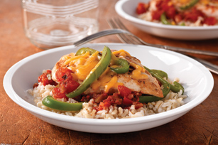 Salsa-Cheddar Chicken