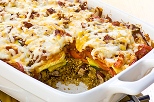 Salsa-Quinoa Layer Bake