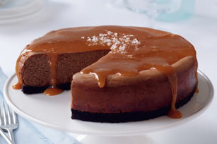 Salted Caramel-Chocolate Cheesecake