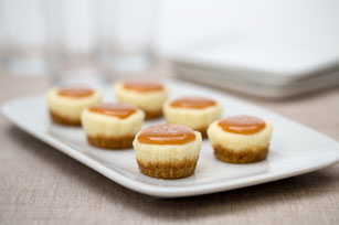 Mini cheesecakes de caramelo con sal
