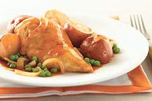 Saucy BBQ Chicken & Potato Skillet
