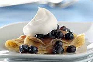 Saucy Blueberry Crêpes Image 1