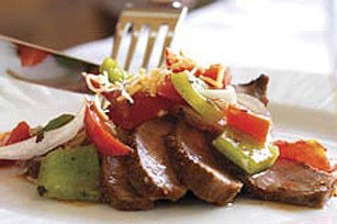 Saucy Tomato and Pepper Steak