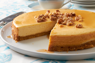 Sugar Shack Maple-Walnut Cheesecake