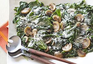 Sautéed Spinach with Mushrooms Image 1