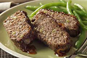 Sabroso asado de carne molida
