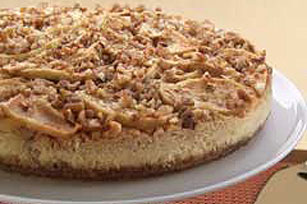Scrumptious Apple-Pecan Cheesecake