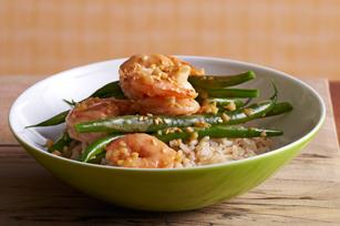 Sesame-Ginger Shrimp and Beans