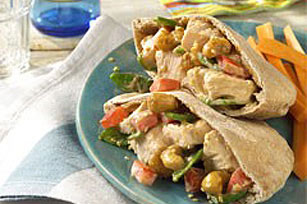 Sesame Chicken in Pitas