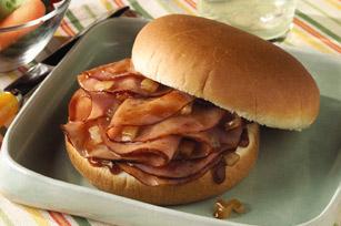 Shaved Ham & BBQ Sandwich