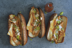 Shredded Buffalo Chicken Sandwiches Image 1