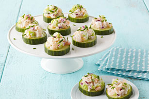 Shrimp Salad-Cucumber Appetizers
