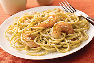 Spicy Cilantro Shrimp and Pasta