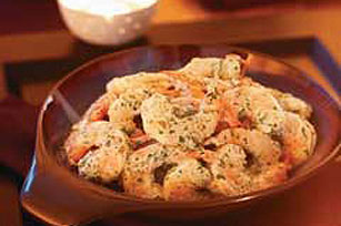 Shrimp in Green Mayonnaise