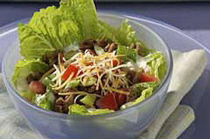 Spicy Ranch Layered Chicken Taco Salad Image 1