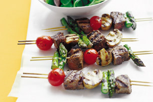 Sizzling Beef & Vegetable Kabobs