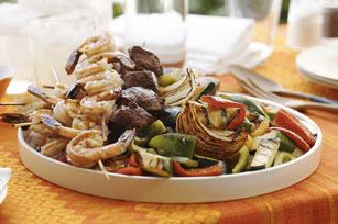 Skewered Surf & Turf with Grilled Vegetables