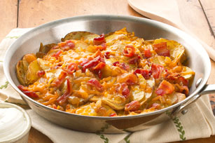 Skillet Potatoes with Bacon & Cheddar