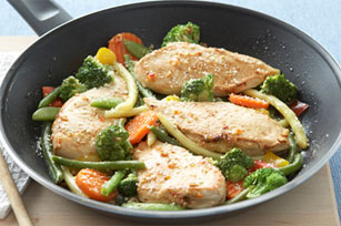 Skillet Chicken with Vegetables Parmesan