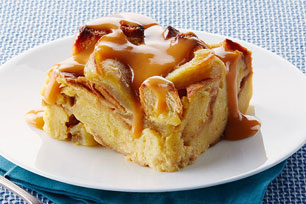 Slow-Cooker Apple Bread Pudding with Warm Butterscotch Sauce Image 1