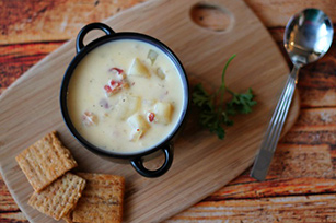 Slow-Cooker Cheesy Potato Soup with Bacon