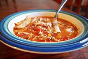 Slow-Cooker Chicken Enchilada Soup Image 1