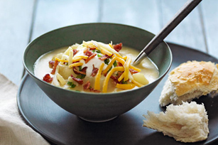 Slow-Cooker Loaded Baked Potato Soup