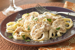 Smarter Fettuccine Alfredo with Chicken