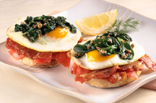 Smoked Salmon-Bacon Benedict Image 1