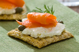 Smoked Salmon & Cream Cheese Toppers Image 1