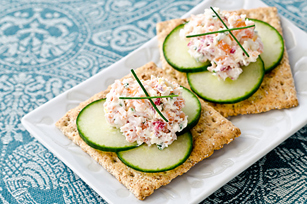 Smoked Salmon & Cucumber Topper Image 1