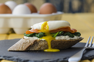 Smoked Salmon & Poached Egg Sandwiches Image 1