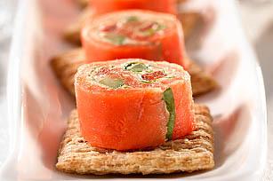 "Smoked Salmon ""Sushi"" Topper Image 1"