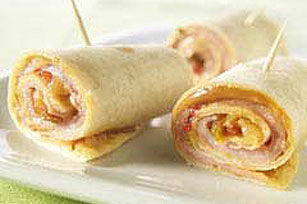 Smoked Ham and Pineapple Salsa Roll-Ups Image 1