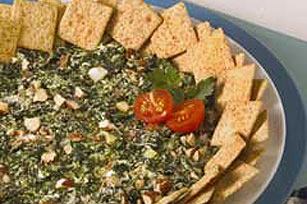 Smokey Almond-Spinach Dip