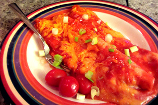 Sour Cream Meatless Enchiladas