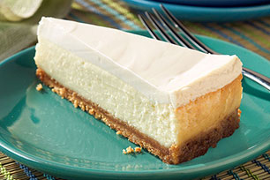 Sour Cream-Topped Cheesecake Image 1