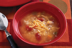 Southwest Chicken & Rice Soup