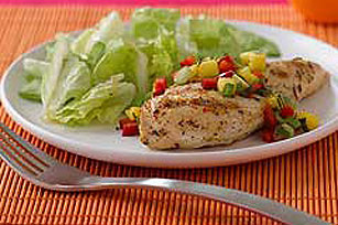 Southwestern Grilled Chicken with Mango Salsa
