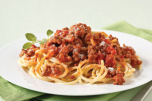 Spaghetti with Zesty Bolognese Image 1