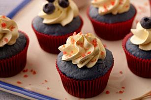 Sparkling Blue Velvet Cupcakes Image 1