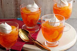 Espumoso postre de mandarinas