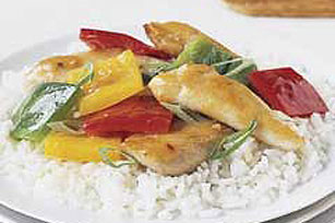 Speedy Garlic Rainbow Chicken Stir-Fry Image 1