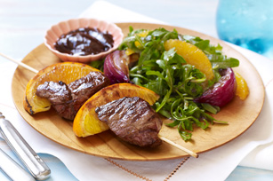 Spiced Lamb Kabobs & Orange Arugula Salad
