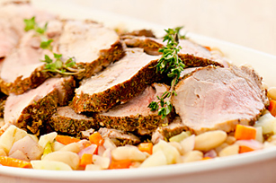Spiced Pork Tenderloins with White Bean Ragout