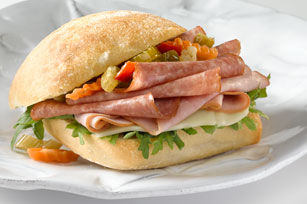 Ham and Salami Ciabatta