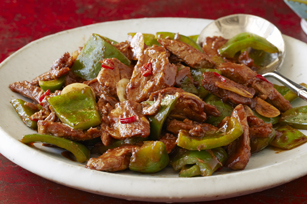 Spicy Sichuan Double-Cooked Pork & Peppers